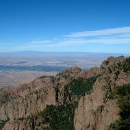 A view from Sandia Peak, New Mexico.