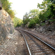 A scenic railway at Branson, Missouri.