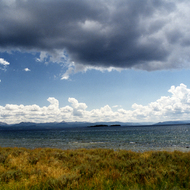 Yellowstone Lake in Yellowstone National Park.