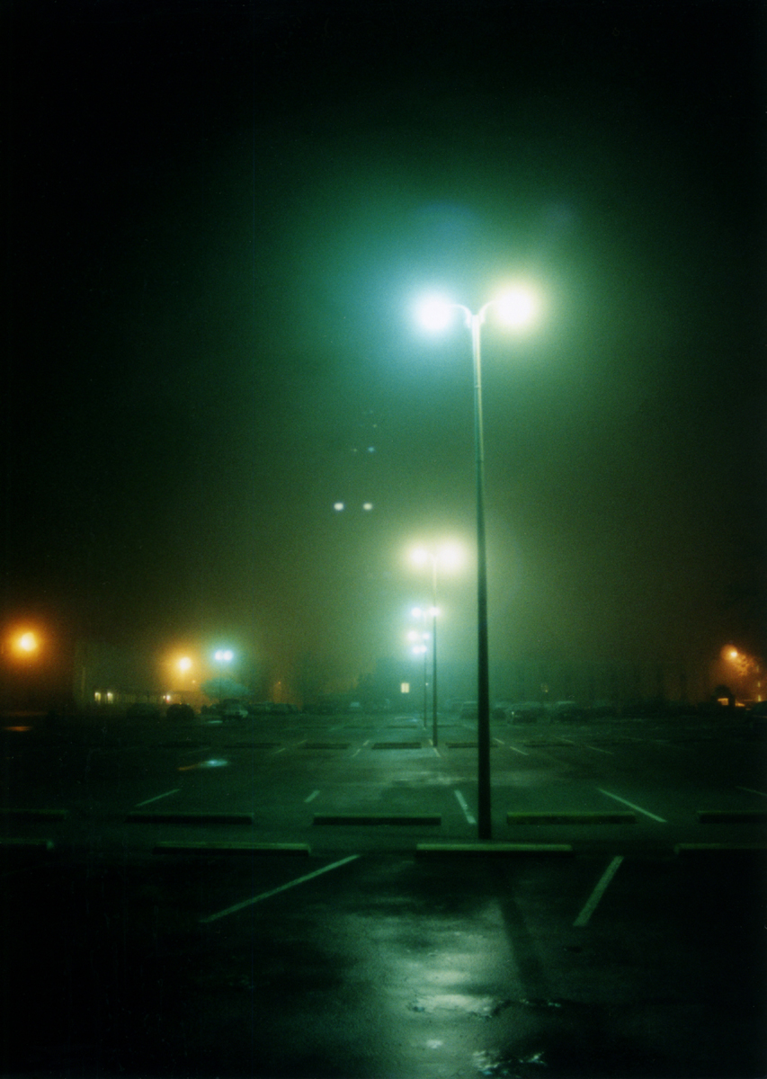 night time parking lot