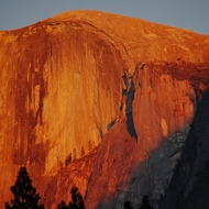 Yosemite sunset on Half Dome.