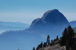 Thumbnail image ofYosemite, Olmstead Point in the fog/smoke.