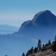 Yosemite, Olmstead Point in the fog/smoke.