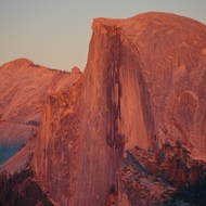 Yosemite, Half Dome at sunset.