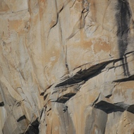 Yosemite, climbers on El Capitan.