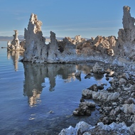 Mono Lake tufa sculptures.