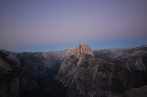 Thumbnail image of Half Dome at sunset, taken from Glacier Point.