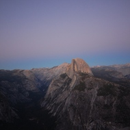 Half Dome at sunset, taken from Glacier Point.