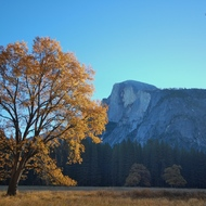 Yosemite fall autumn landscape.
