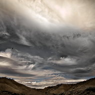 Storm Clouds in the Badlands