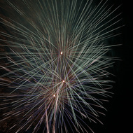 Isolated Firework Burst #3