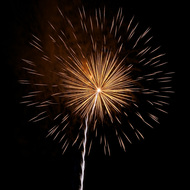 Isolated Firework Burst #9
