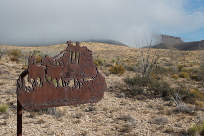 Thumbnail image ofButterfiled Overland Mail Stage line sign.