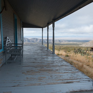 Williams Ranch porch.