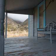 Williams Ranch porch toward Bone Spring limestone.