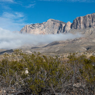 Williams Ranch Mountain Range Coming out of the Fog.