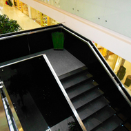 Shopping center. Stairs.