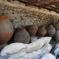 Ancient wine jugs.