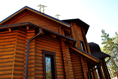 Thumbnail image ofThe top of the wooden church.