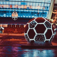 Big ball before the Donbass arena.