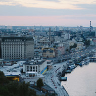 Panorama of at the Podil.