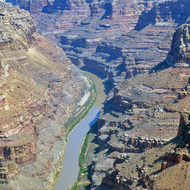 The Colorado River in Cataract Canyon.