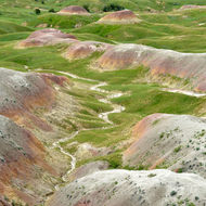 Multi-colored mounds.