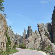Looking down the Needles Highway.