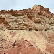 An abandoned uranium mine in Reds Canyon in the San Rafael Swell.