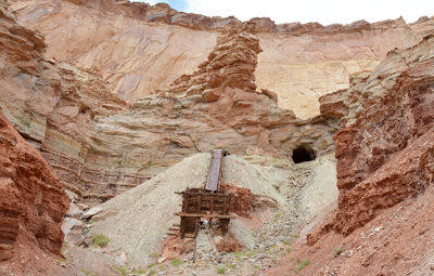 Thumbnail image of An abandoned uranium mine in Reds Canyon in the...