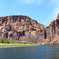 A downstream view in Glen Canyon.