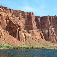 The walls of Glen Canyon.