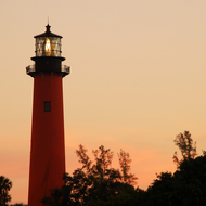 Jupiter Lighthouse at dawn.