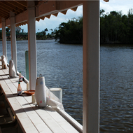 Waterfront dining in Everglades City, Florida