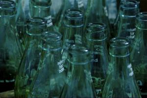 Thumbnail image ofCoke bottles at a flea market.