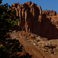 Ridge near Chimney Rock in Capitol Reef National Park.