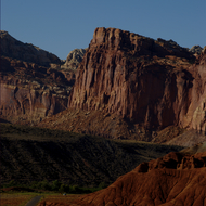 Road through Capitol Reef National Park.