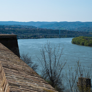 View of the Danube River from Petrovaradin Fortress.