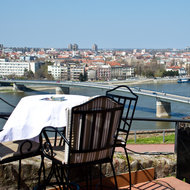 Restaurant view at Petrovaradin Fortress.