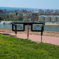 Glasses sculpture at Petrovaradin Fortress.