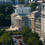 U.S. Treasury and White House from Old Post Office Tower