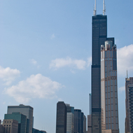 Chicago skyline and Willis Tower from the Chicago River.