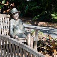 Sculpture of Marjory Stoneman Douglas in Fairchild Tropical Gardens, Miami, Florida