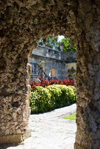 Thumbnail image of One of the gardens at Vizcaya Museum and Gardens...