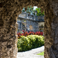 One of the gardens at Vizcaya Museum and Gardens in Miami, Florida.