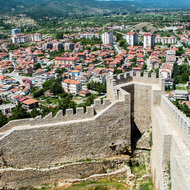 Ohrid from Samoli's Fortress.