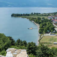 Lake Ohrid from Samoli's Fortress.