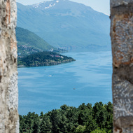 View of Lake Ohrid from Samoli's Fortress.
