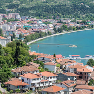 View of Ohrid from Samoli's Fortress.