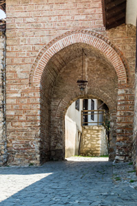 Thumbnail image ofArchway entrance to the Icons Gallery and St....
